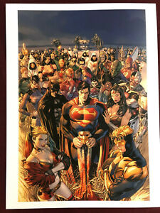 """CLAY MANN SUPERMAN POSTER 12 X16"""" NM SHIPPDFLAT HEROES IN CRISIS WONDER WOMAN"""