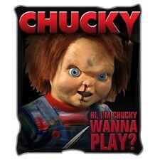 Chucky Wanna Play Childs Play Raschel Fleece Throw Blanket Horror Winter Rug