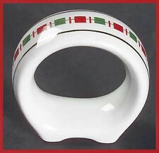 Tartan Ribbon Napkin Rings White Gold (8) Christmas Holiday EC