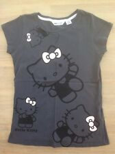 'Hello Kitty' H & M. Grey T-Shirt Top,  (Age Approximately 8-9 Years)