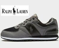 ⚫⚫  Polo Ralph Lauren Slaton Tech Pony ® ( Men size UK 6 & 11 ) Black Grey