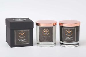 Bea Loves Soy 475g Candle Jar (White): Designer Scent Inspired Basil & Neroli