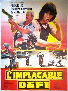 Plakat Kino L'Relentless Baseball Herausforderung Bruce Le Richard Harrison -