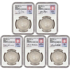 5-pc. 2014 US Baseball BU Silver $1 - Class of '36 - NGC MS69 - Early Releases