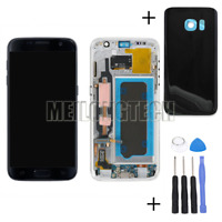 For Samsung Galaxy S7 G930F LCD Display Touch Screen Digitizer With Frame Black