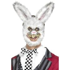 Zombie White Rabbit Mask Adults Animal Halloween Fancy Dress
