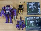 Transformers Kingdom Beast Wars Predacon Lot Megatron Scorponok Black Arachnia