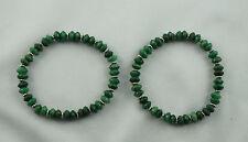 Armband PRASEM 7mm Linsen Afrika Jade ca. 19 cm A-Qualität mit Tibetsilber