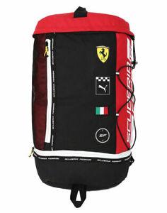 NEW Puma Scuderia Ferrari Fanwear RCT Unisex Backpack Black/Red Rosso Corsa
