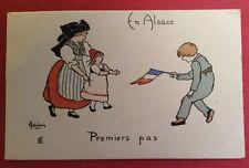 CPA. Illustrateur DELALAIN. Premiers Pas. Guerre 1914-18. Série en Alsace N°9