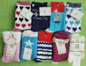 KAREN NEUBURGER COZY LOUNGE SLIPPER SOCKS:NWT ASSORTED (WITH or W/OUT GRIPPERS)