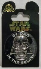 Disney Star Wars Darth Vader Head with the words #1 Dad in the Galaxy 3-D Pin