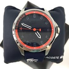LaCoste Mens Casual Watch Blue Capbreton Silicone Strap Band 2010842