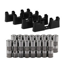 For Chevy GM 4.8 LS1 12499225 HL124 Hydraulic Roller Lifters & 4 Guides Trays