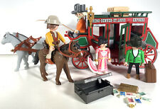 Playmobil 4399 Western Stagecoach Horse Carriage EXTRAS Figures Cowboy Horse