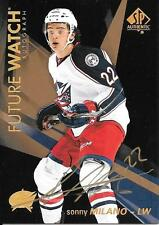 2016 17 SP Authentic Sonny Milano Blue Jackets Future Watch GOLD auto SSP
