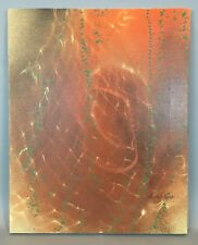 Vintage Abstract Expressionist PAINTING On Canvas SIGNED Mid Century Modern