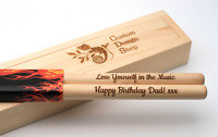 Personalised drum sticks 5A, high quality maple wood, gift box | Custom Engraved
