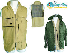 New BARBOUR Mayfly Safari Mens Waistcoat GILET( inc foldaway shower jacket) S
