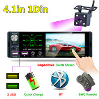 1Din Car Stereo Radio USB/AUX/TF MP5 Player 4.1In Touch Screen Bluetooth Camera