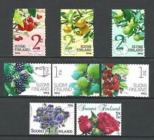 ˳˳ ҉ ˳˳FI18 Finland Flowers & Fruits - 8 different period 2013-2014 recent