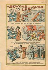 Caricature Politique Anti Franc-Maçons Anti-Communiste Religion Catholique 1936