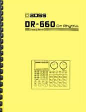 Boss DR-660 Dr. Rhythm OWNER'S MANUAL and SERVICE NOTES