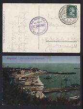 AK Helgoland 1927 - Stempel Auf hoher See an Bord Turbinen Dampfer Cobra - Hapag