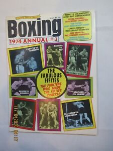 Vintage 1974 Annual #3 Victory Sports Boxing Magazine Famous Bouts on Cover
