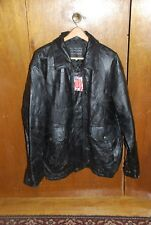 Napoline Roman Rock Design Genuine Leather Jacket 2X with tags