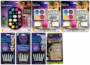 LOT OF 7 - Multi-Brand Halloween Kids Glitter Makeup Fashion Set | Nails | Kit