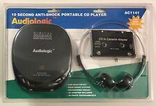 Audiologic Portable CD Player w/Digital Anti-Shock Car/Home Charger Kit AC1141