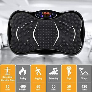 Fitness Vibrationsplatte Vibro Vibrationsgerät Heimtrainer Body Shaper LCD