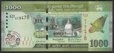 SRI LANKA 1000 RUPEES 2.4.2018 70th INDEPENDENCE NEW ISSUE COMMEMORATIVE - UNC
