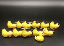 Rubber Duck Shower Curtain Hooks-12 Pre-owned Yellow Rubber Ducks