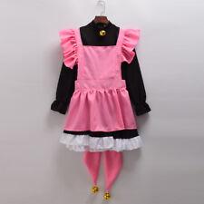 Anime CARDCAPTOR SAKURA Cosplay Costume KINOMOTO SAKURA Cat Dress Outfits