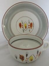 """STANGL POTTERY AMBER GLO PAT CUP (4 1/2""""D) & SAUCER (6 1/4""""D) SET (7 AVAILABLE)"""