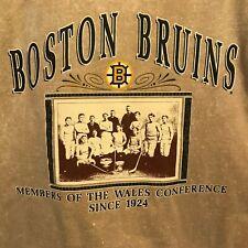 Boston Bruins Members of the Wales Conference XL Sweatshirt Nutmeg NHL Vintage