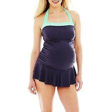 womens LARGE MATERNITY 1-piece  swimsuit swimdress Beach Native 12-14