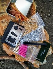 Survival Tin Magnesium Fatwood Sticks Chips Water Proof Matches Ferro Rod