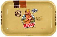 """RAW GIRL TRAY for Rolling Papers METAL Style Cigarette Hemp Rolling Tray 7""""x 11"""""""