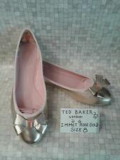 TED BAKER Immet Rose Gold Tone Bow pumps. Size UK 8