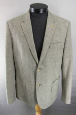 BRAND NEW WITH TAGS JEFF BANKS TAUPE WOOL BLEND TWEED JACKET 42 INCH/REGULAR FIT