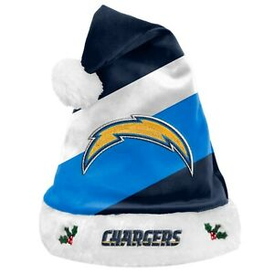 Los Angeles Chargers Team Big Logo Holiday Plush Santa Hat NEW! Christmas SH19