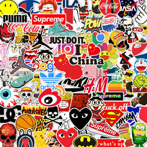 100PCS Vinyl Bomb Graffiti Stickers Laptop Skateboard Car Luggage Random Decal