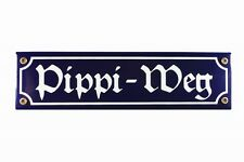 CARTELLO SMALTATO pippi-weg insegna stradale 30x8cm POSTA ELETTRONICA Toilette