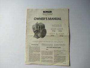 1983 Kohler K241 K301 K321 K341 engine operator's owner's manual