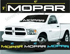 MOPAR WINDSHIELD VINYL DECAL STICKER DODGE RAM  (ALL COLORS AVAILABLE)