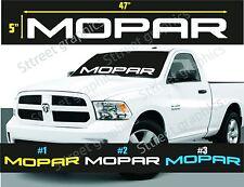 MOPAR WINDSHIELD VINYL DECAL STICKER DODGE RAM  (ALL COLORS AVAILABLE)