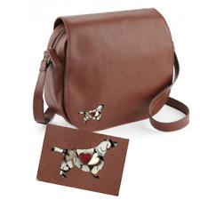 More details for welsh springer spaniel  nuhide saddle bag handbag